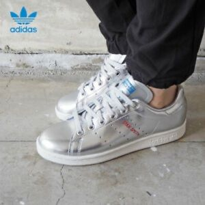 ADIDAS OG Stan Smith trainers silver leather tech